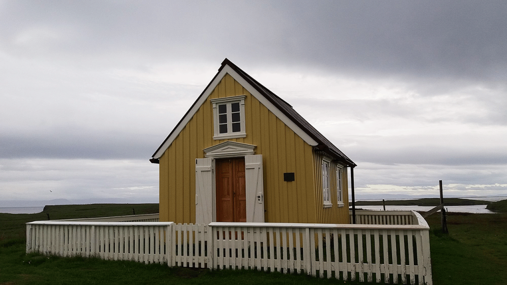 Bókhlaðan í Flatey á Breiðafirði.