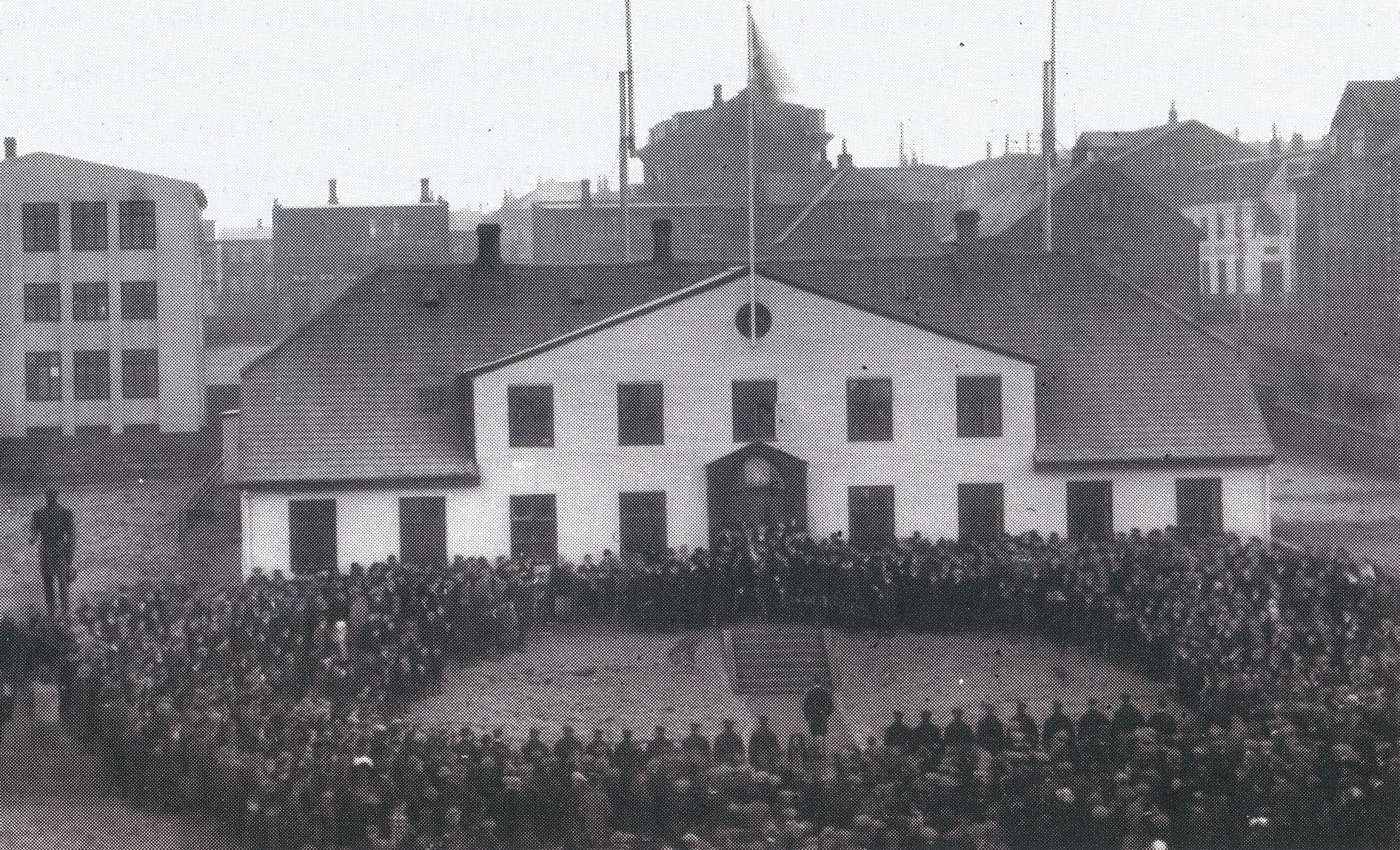 Athöfn við Stjórnarráðshúsið á fullveldisdaginn